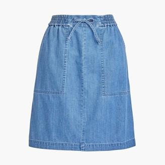 J.Crew Chambray pull-on utility skirt