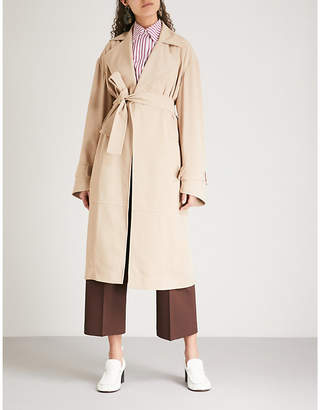 Victoria Beckham Belted woven-twill trench coat