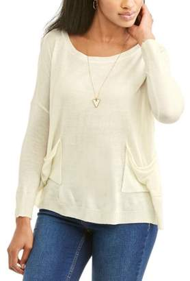 Thyme & Honey Women's Two-Pocket Pullover Sweater