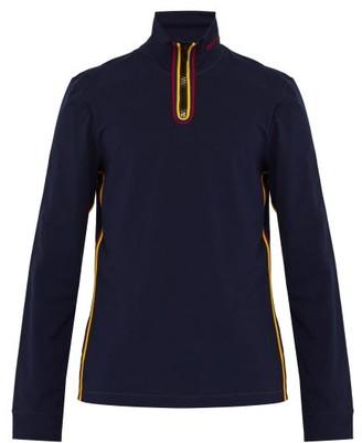 Calvin Klein Contrast Trim Stretch Cotton Top - Mens - Navy