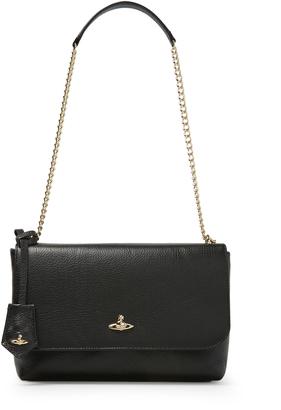 Vivienne Westwood Large Balmoral Bag With Flap 131203 in Black