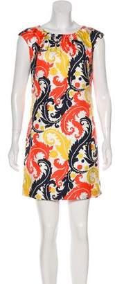 Milly Silk Printed Mini Dress