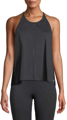 Kate Spade Mesh-Back Leopard-Print Active Tank
