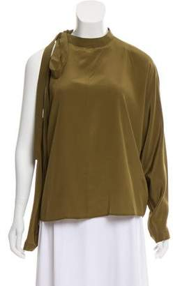 Robert Rodriguez Silk Cold-Shoulder Blouse w/ Tags