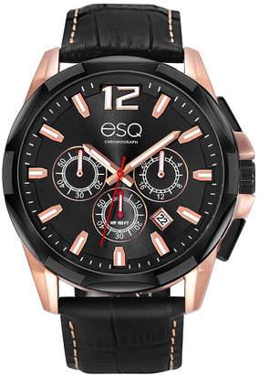 ESQ Men's ESQ0140 Two-Tone Stainless Steel Chronograph Bracelet Watch, Black Dial