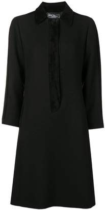 Salvatore Ferragamo tone on tone coat dress