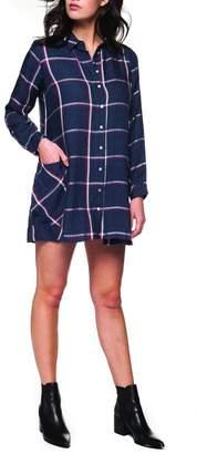 Dex Plaid Button-Up Dress