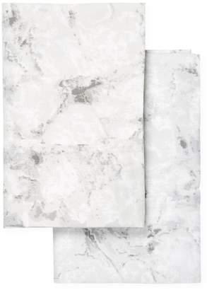 Melange Home Marble Cotton Pillowcases (Set of 2)