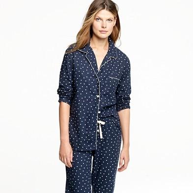Silk pajama shirt in starstruck