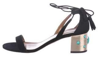 Aquazzura Suede Wrap-Around Sandals
