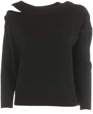 Vince Asymmetric Cut-out Sweater