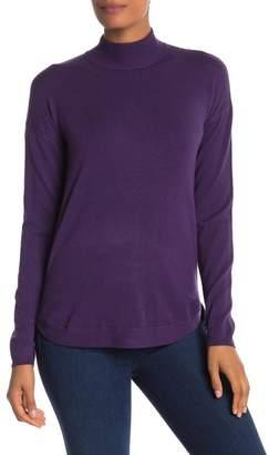 Cyrus Yummy Yarn Mock Neck Zipped Sweater