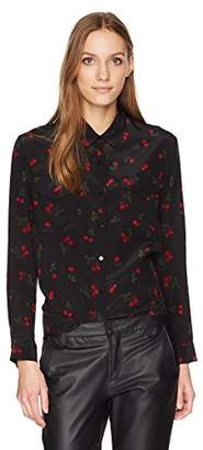 The Kooples Women's Cherry Print Button up Blouse