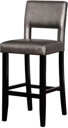 Linon Velma Pewter Bar Stool