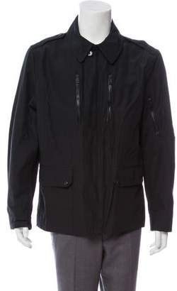 Ralph Lauren Black Label Leather-Accented Woven Jacket
