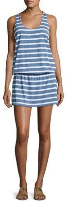Splendid Cottage Striped Chambray Coverup Dress $108 thestylecure.com