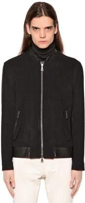 John Varvatos Wool Cloth Biker Jacket