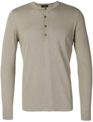 Dell'oglio knitted henley top