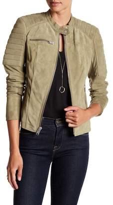 Andrew Marc Lonny Suede Zip Moto Jacket