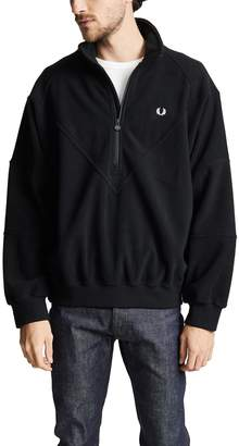 Fred Perry Monochrome Half-Zip Fleece Pullover