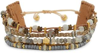 Chan Luu Semiprecious Stone Leather Bracelet