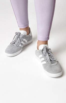 adidas Women's Dark Gray & White Gazelle Sneakers