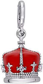 Laura Ashley Jewelry Sterling Enamel British Crown Char