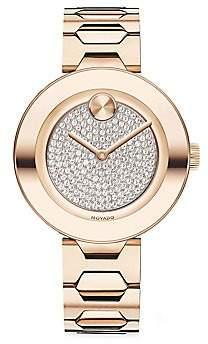 Movado Women's BOLD T-Bar Stainless Steel Bracelet Watch