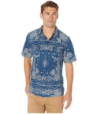Frye Bandana Print Short Sleeve Western Shirt