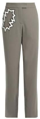 Christopher Kane - Smash Pocket Wool Crepe Trousers - Womens - Grey