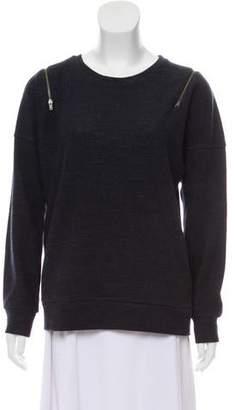 J Brand Wool-Blend Zip-Embellished Sweater