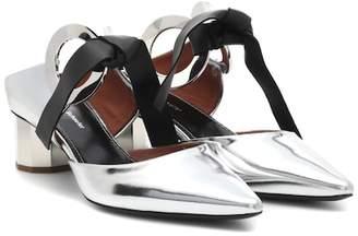 Proenza Schouler Metallic leather mules