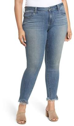 Lucky Brand Ginger Fringed Hem Skinny Jeans
