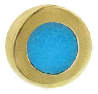 Jennifer Meyer Mini Turquoise Circle Single Stud Earring - Yellow Gold