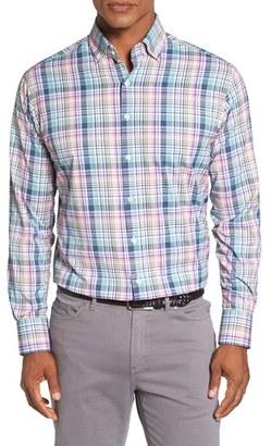 Men's Peter Millar 'Beaker' Regular Fit Performance Sport Shirt $135 thestylecure.com