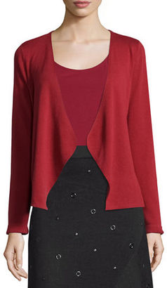 NIC+ZOE Long-Sleeve Draped-Front Cardigan $128 thestylecure.com