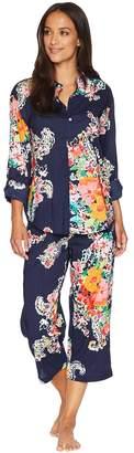 Lauren Ralph Lauren His Shirt Capris Pajama Set Women's Pajama Sets