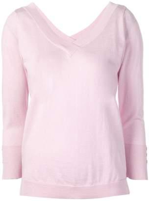 Snobby Sheep wide V-neck sweater