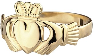 Solvar Ladies Claddagh Ring, 14K Yellow Gold