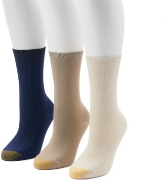 Gold Toe Goldtoe Women's GOLDTOE 3-Pack Ultra Soft Textured Crew Socks