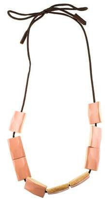 Marni Lacquered Wood Necklace