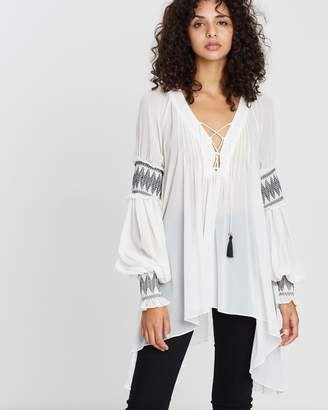 Shona Joy Lace-Up Oversized Blouse