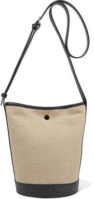 A.P.C. Helene Leather-trimmed Canvas Shoulder Bag - Beige