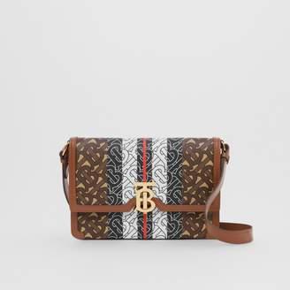 Burberry Small Monogram Stripe E-canvas Crossbody Bag