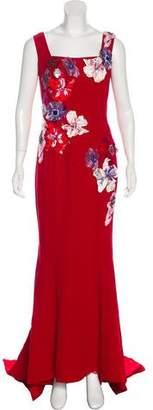Dolce & Gabbana Appliqué-Accented Evening Dress