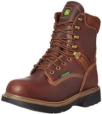 John Deere Men's 8 Brn Waterproof Farm/Wrk Nst LU Work Boot