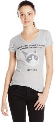 Fifth Sun Junior's Grumpy Cat No Exercise Graphic Tee