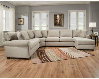 Asstd National Brand Fabric Possibilities Roll Arm Quick Ship Custom 4pc Right Arm Facing Sectional