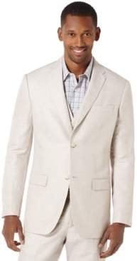 Perry Ellis Men's Linen Big & Tall Linen Blend Herringbone Blazer