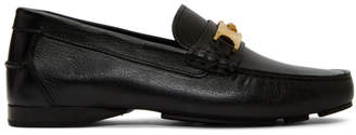 Versace Black Medusa Buckle Loafers